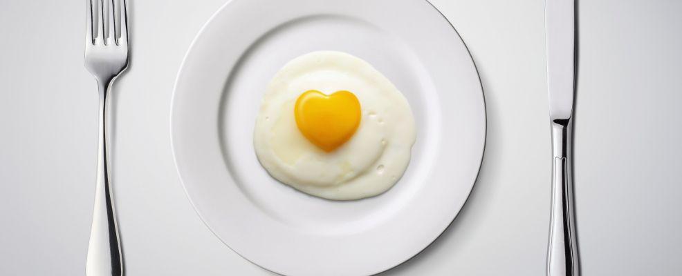 Fried Egg, Heart Shape