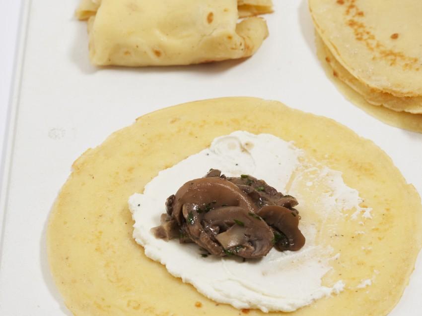 Crepes ai funghi ricetta 4