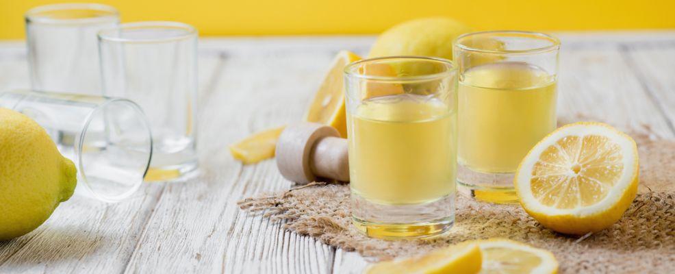 Liquore limoncello fatto in casa - Shutterstock