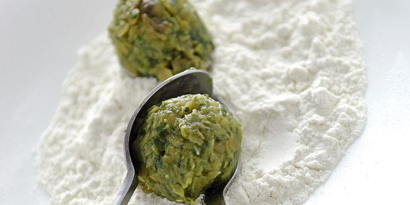 Preparare le polpette di verdura