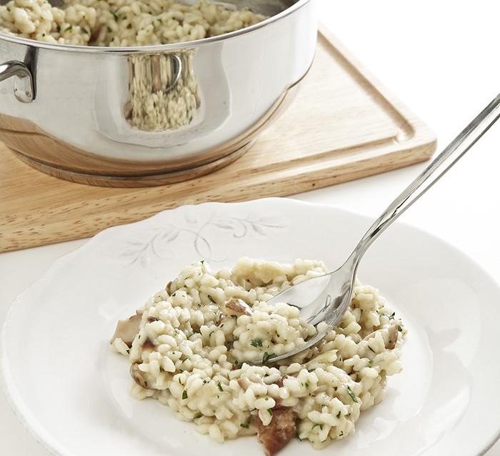 Risotto con funghi porcini trifolati ricetta 4