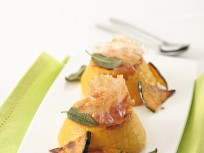 Sformatini di zucca con pancetta