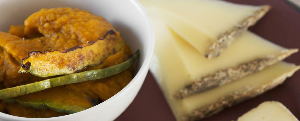crema di zucca speziata all'arancia con toma di montagna Sale&Pepe ricetta