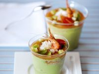Budino di avocado al granchio