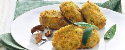 Crocchette di patate e funghi al burro di tartufo