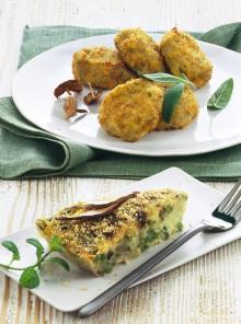 Crocchette di patate e funghi con burro al tartufo