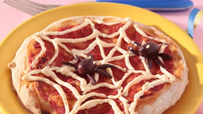 Piatto pizza con i ragni