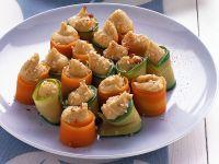 cannoncini di verdura con hummus di ceci Sale&Pepe