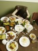 Woman Passed Out on Messy Table