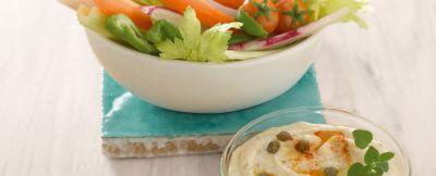 dip di verdure con hummus leggero ricetta