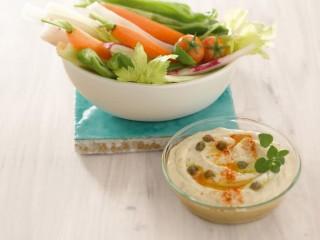 dip di verdure con hummus leggero Sale&Pepe ricetta