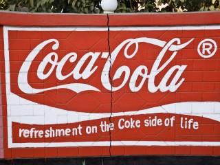 Coca-Cola billboard painting near Victoria Falls