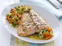 Piatto di salmone al forno