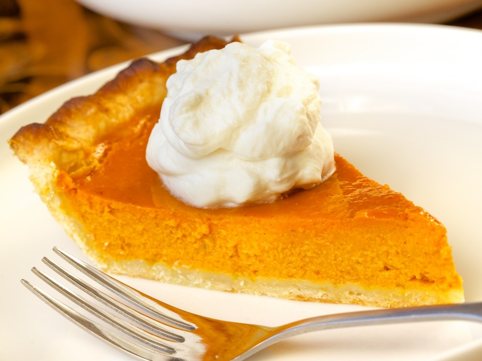 Classic Pumpkin Pie with Whipped Cream -Chef Bjorn DelaCruz