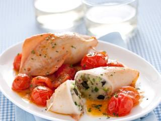 calamari ripieni all'amalfitana Sale&Pepe ricetta