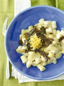 Gnocchetti di miglio con alghe e limone