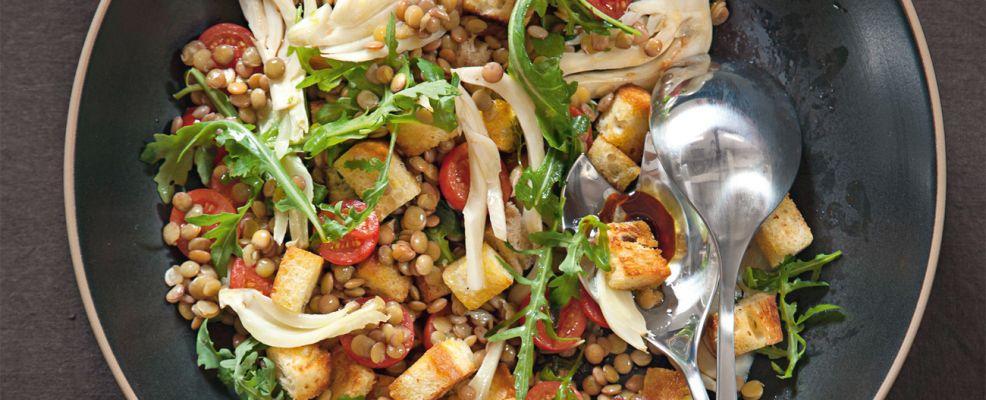 insalata di pane e lenticchie di Altamura Sale&Pepe ricetta