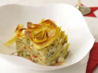lasagne ai carciofi e granceola