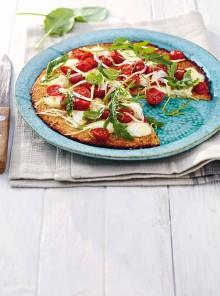 Pizza senza glutine con base di cavolfiore