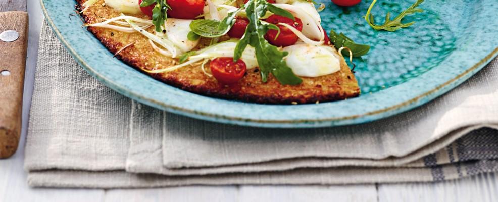 pizza senza glutine con base di cavolfiore Sale&Pepe ricetta