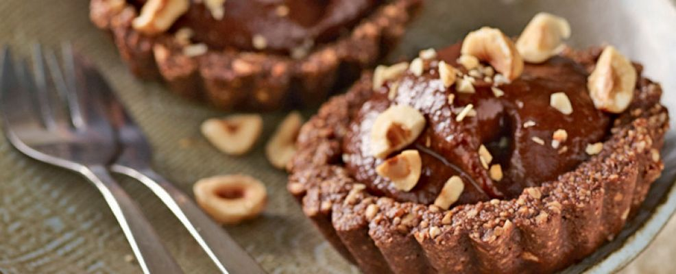tartellette vegane al cioccolato e banana