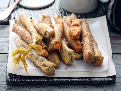 Bastoncini di verdure in pastella di ceci