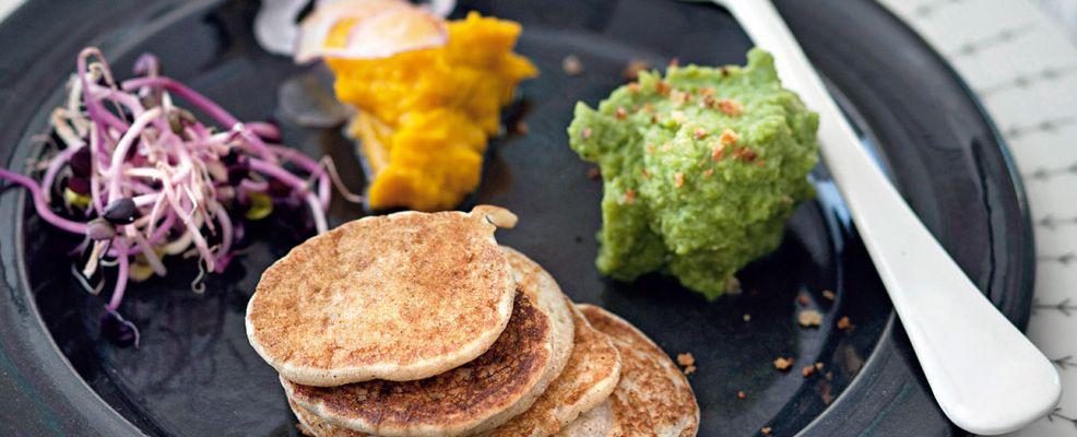 Mini blini con caviali di verdure