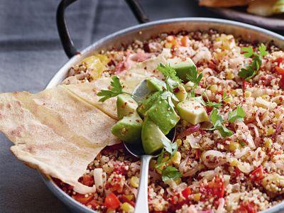 casseruola di quinoa e verdure alla messicana ricetta