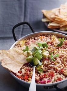 Casseruola di quinoa e verdure alla messicana