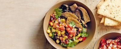insalata di mais, funghi e salsa messicana ricetta