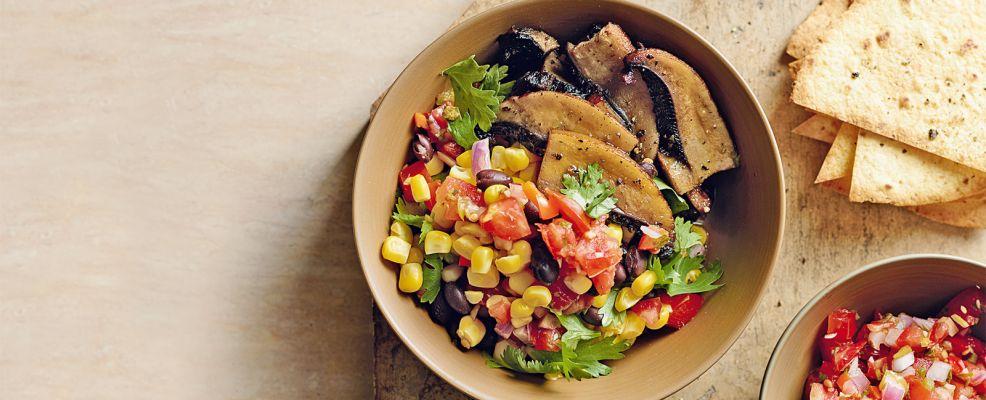 insalata di mais, funghi e salsa messicana Sale&Pepe ricetta