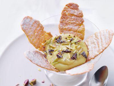 Crema vegana all'arancia con cialde ricetta