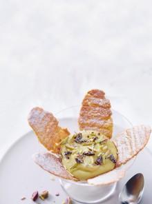 Crema vegana all'arancia con cialde