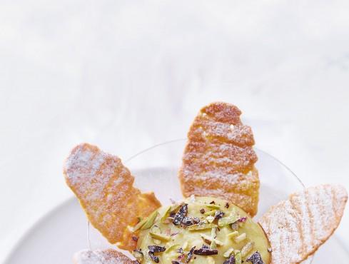 Crema vegana all'arancia con cialde Sale&Pepe ricetta