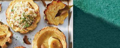 mezze zucche al forno ripiene ricetta