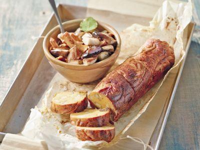 polpettone vegetariano con zucca e funghi ricetta