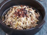 risotto con limone, mandorle tostate e riso croccante Sale&Pepe ricetta