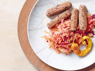 salsiccette di grano saraceno e fagioli con crauti Sale&Pepe ricetta