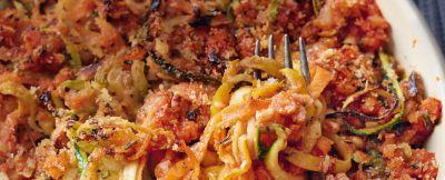 teglia di spaghetti di verdura al ragù di farro ricetta