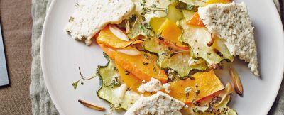 zucca arrostita all'aglio con formaggio ricetta
