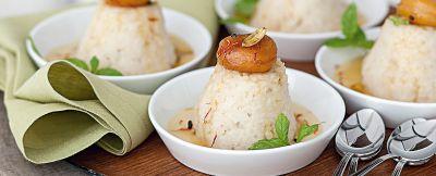 Budini di riso farciti con crema chai