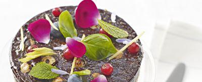 catalana al cioccolato fondente con crumble