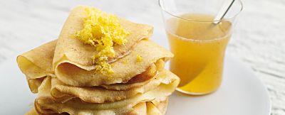 crêpe di riso al miele e limone ricetta