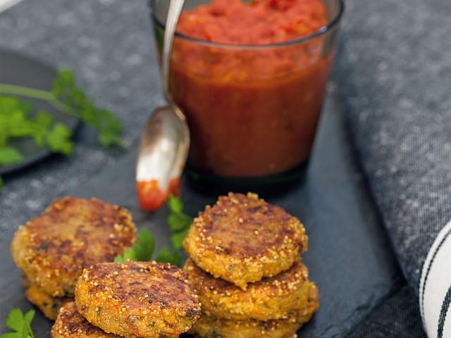 crocchette di amaranto con zucca e pomodori secchi Sale&Pepe ricetta