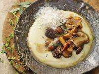 polenta di ceci con funghi Sale&Pepe ricetta