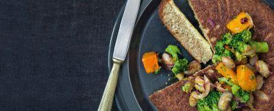 tortino dorato di amaranto e quinoa ricetta