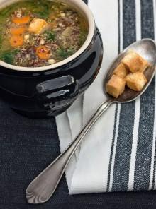 Zuppa di quinoa e spinaci