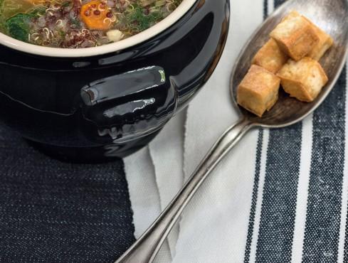zuppa di quinoa e spinaci Sale&Pepe ricetta