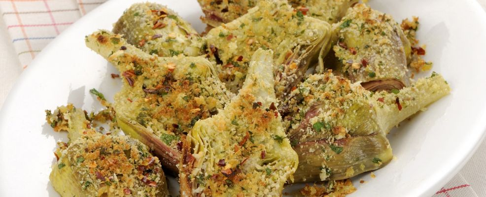 Carciofi al forno sale pepe for Ricette con carciofi