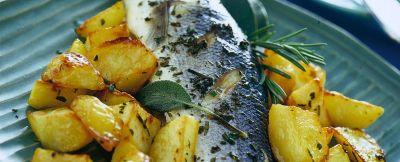 branzino al forno con patate ricetta